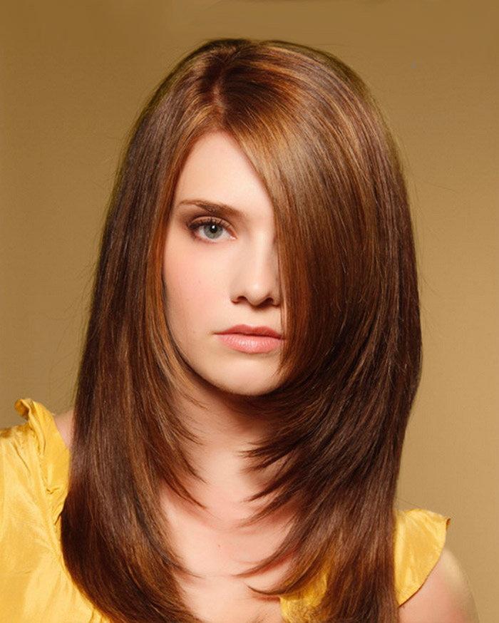 стрижка лесенка для длинных волос