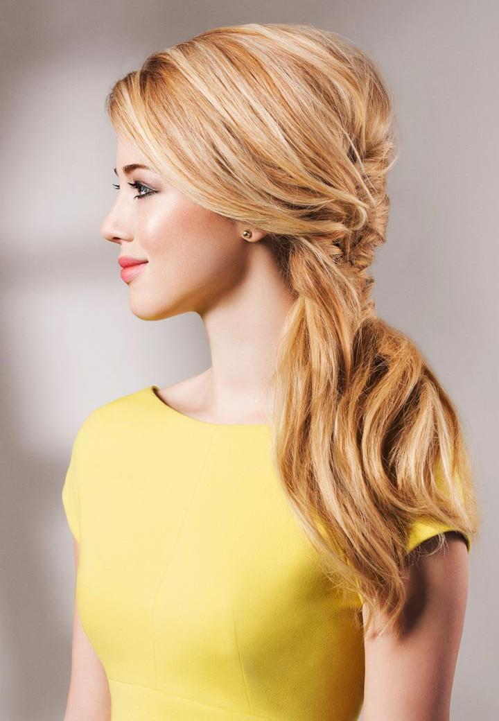 коса из стрижки каскад для длинных волос