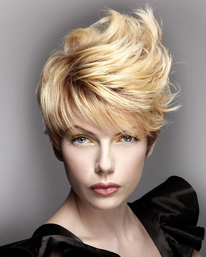 стрижка рокабилли на короткие волосы