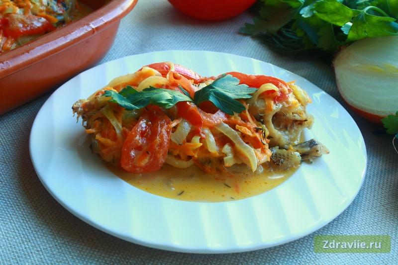 Рецепт: Нототения с овощами в духовке