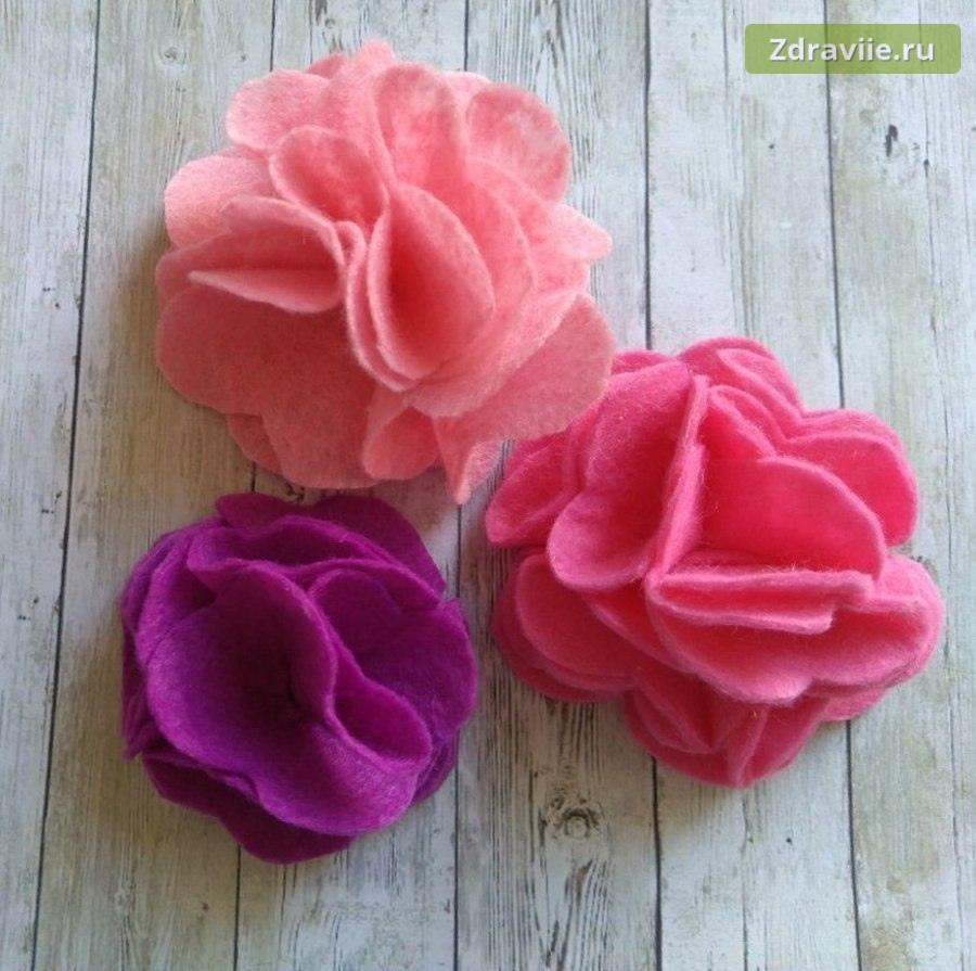 Мастер-класс: Объемный цветок из фетра