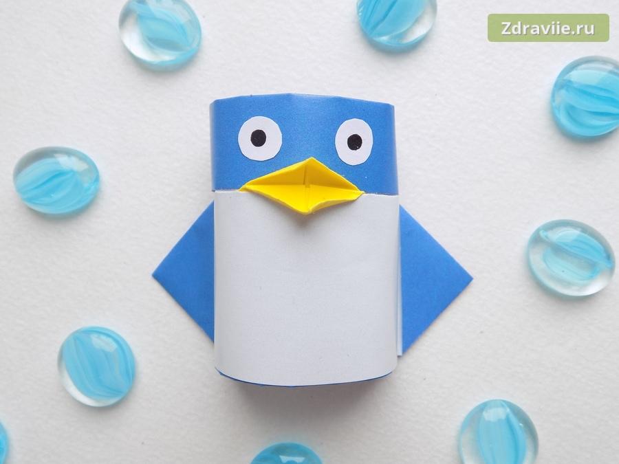 мастер-класс: Как сделать пингвина из бумаги