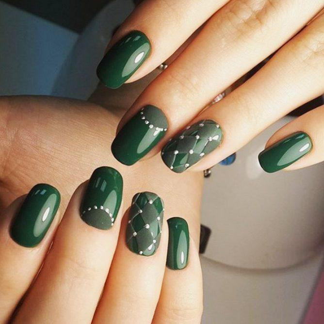 стильный зеленый лак для летнего сезона