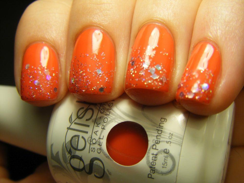 мандариновый цвет лака для ногтей на лето