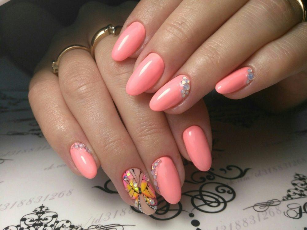 яркий цвет лака спелый розовый арбуз