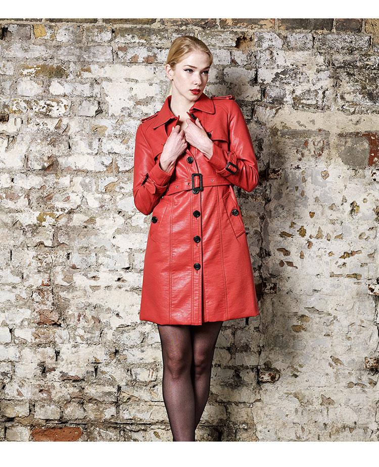 удлиненная куртка с поясом из кожи на осень