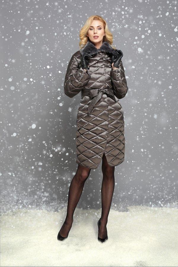 приталенная модель пуховиков на зиму