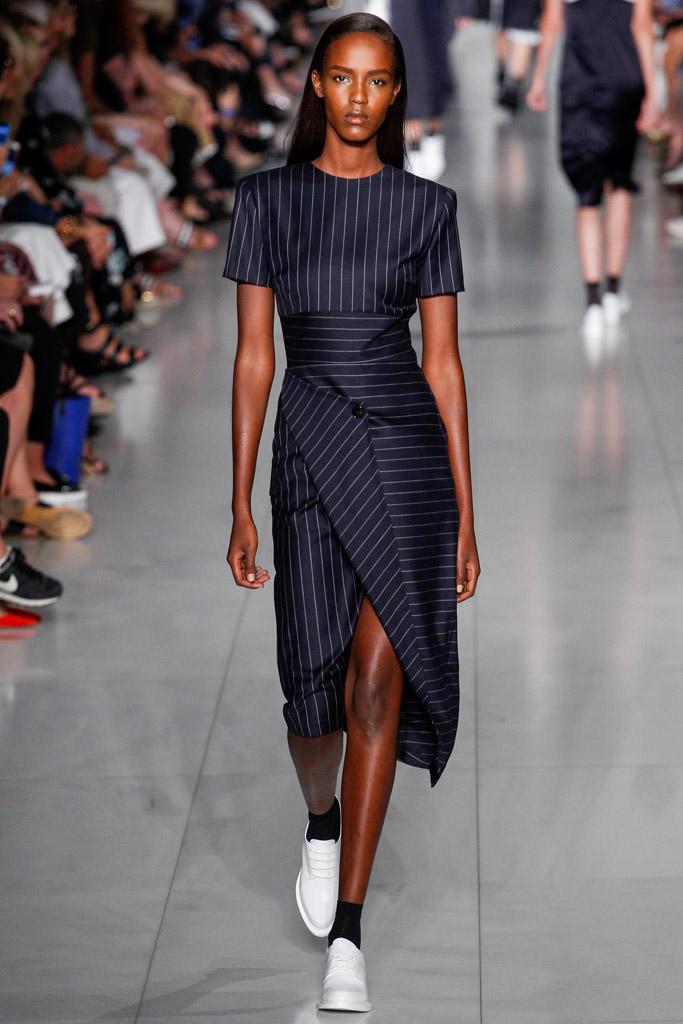 облегающее платье с геометрическим принтом