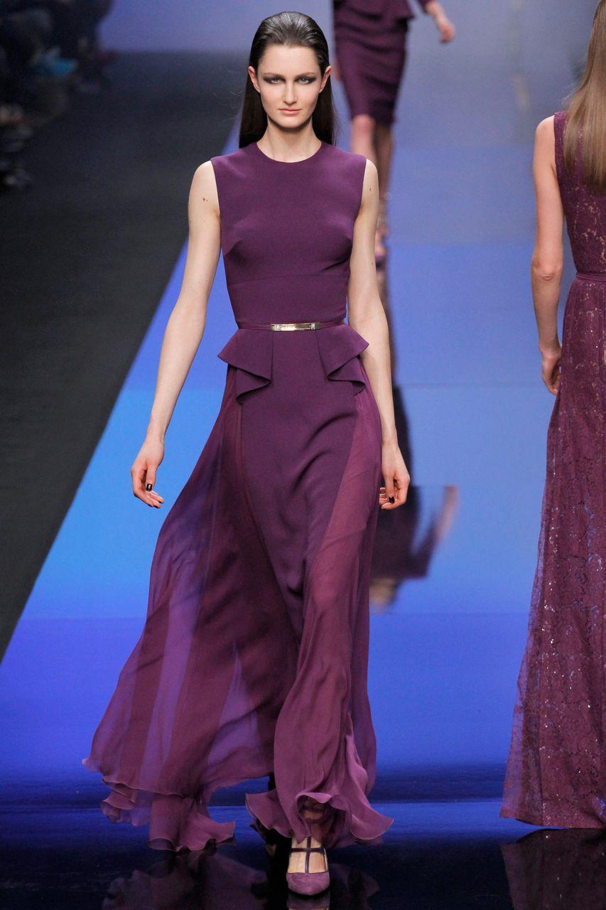модное длинное платье из шифона