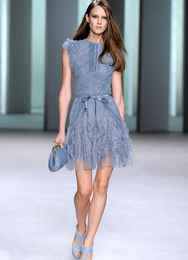 ультрамодное мини-платье из шифона