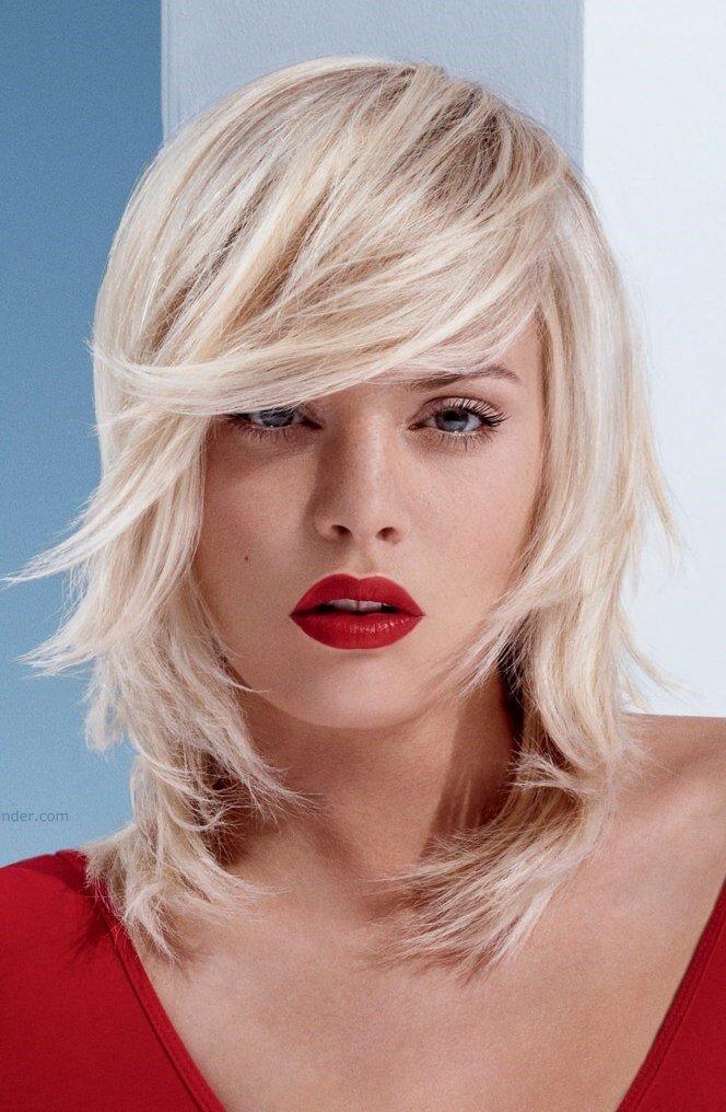 текстурная стрижка для средней длины волос