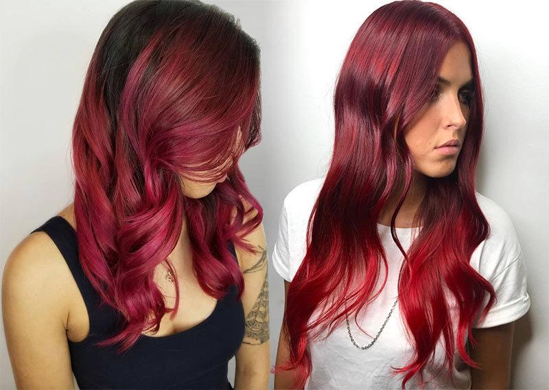 красный цвет волос фото