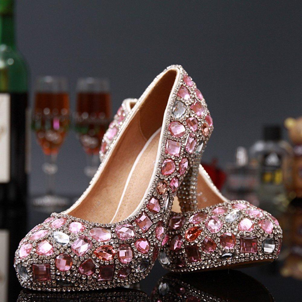 туфли на выпускной вечер с камнями