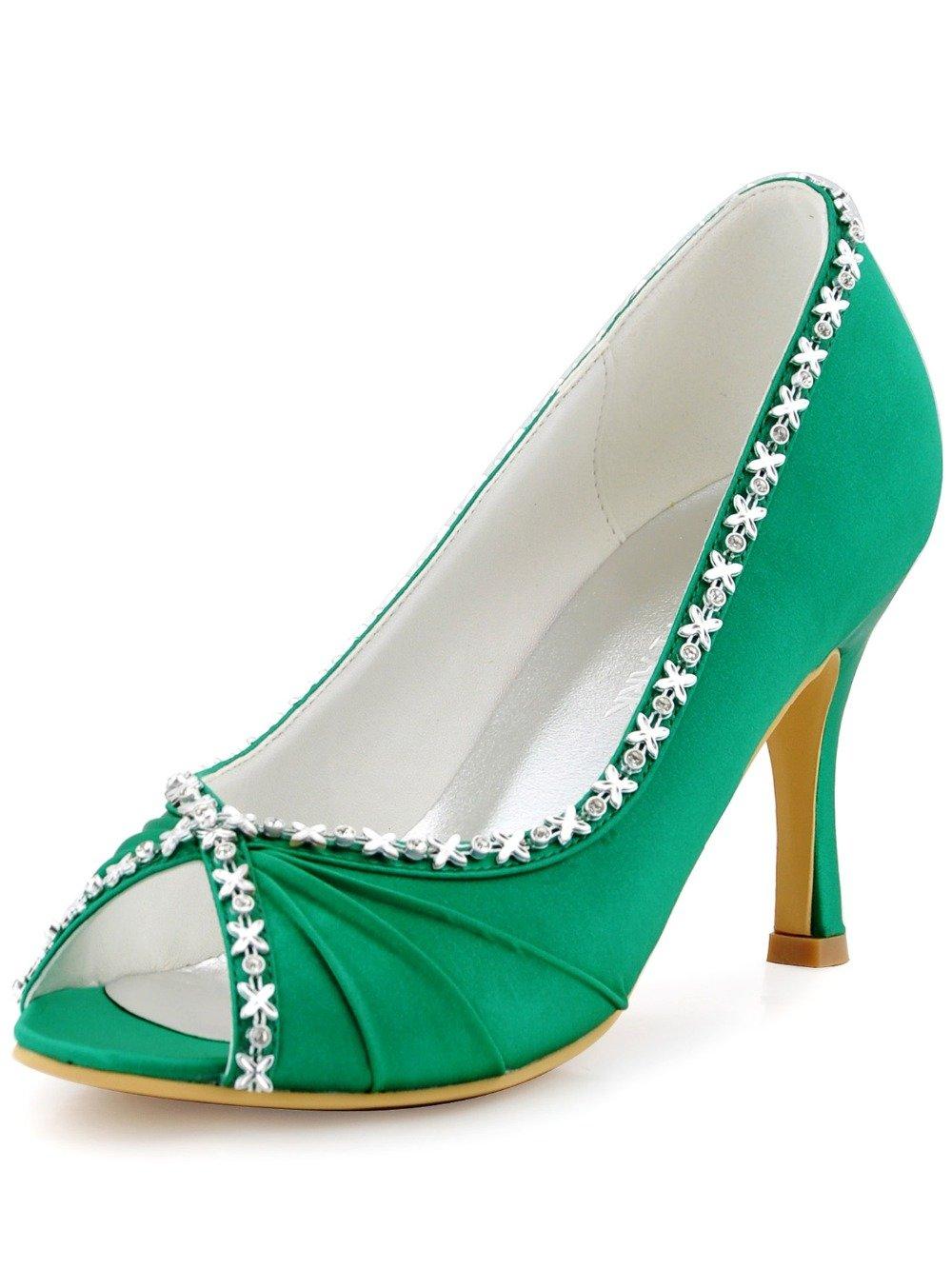 зеленые туфли с открытым носком для выпускного