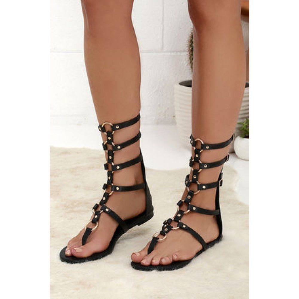 открытые римские сандалии на выпускной вечер