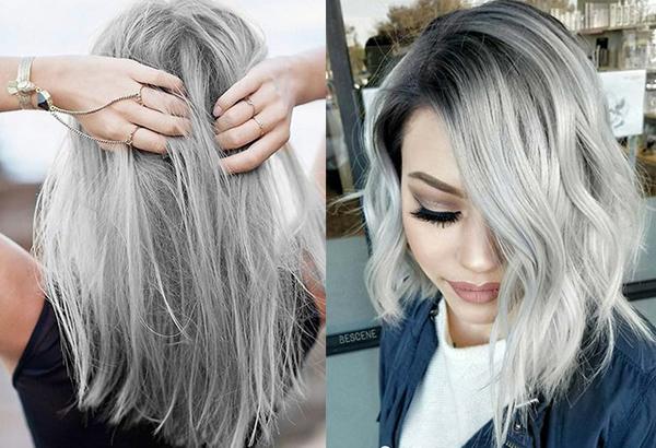 Светло-серый цвет волос