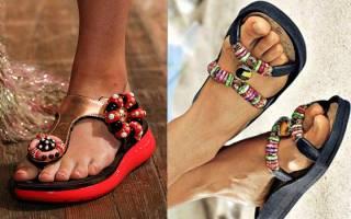 Модная пляжная обувь весна-лето 2019