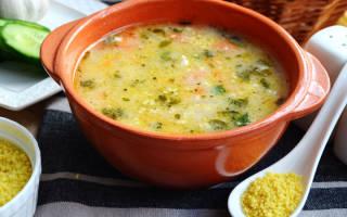 Сырный суп с кускусом и говядиной