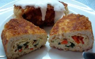 Зразы куриные «По-лермонтовски» с яйцом и луком