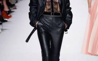 Модные женские кожаные куртки осень 2018