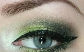 Макияж для зеленых глаз видео