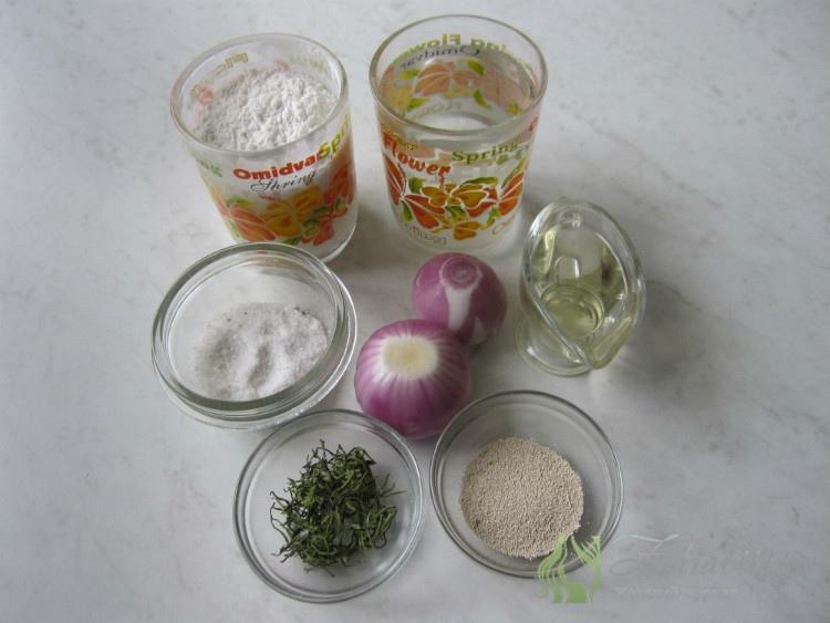 Ингредиенты для Фокачча с луком