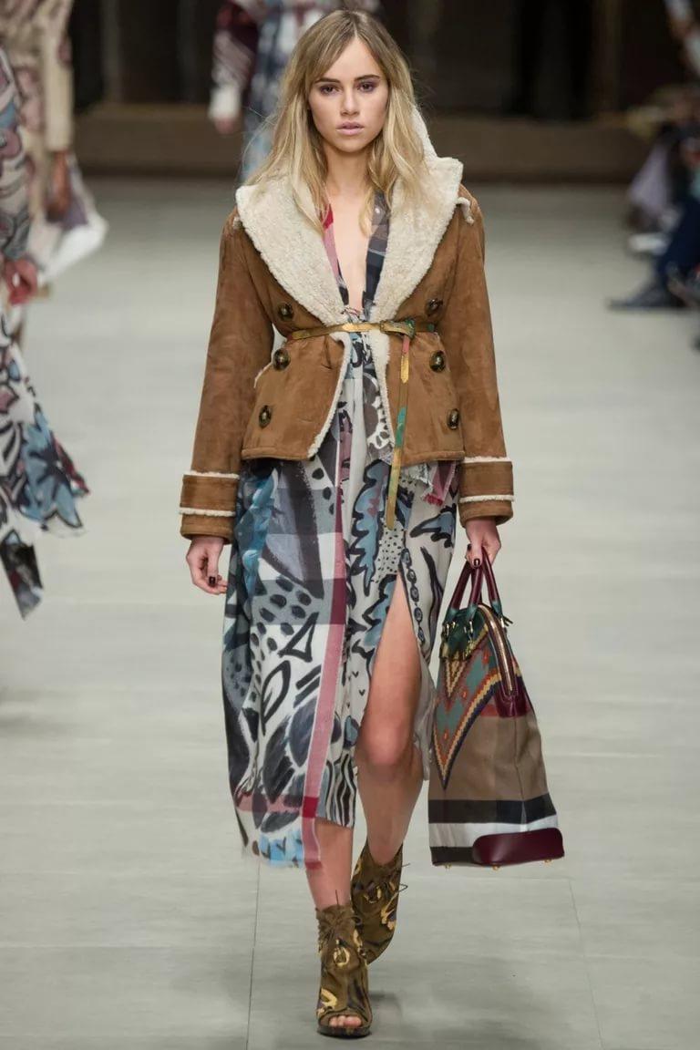 Модель пальто в стиле кантри