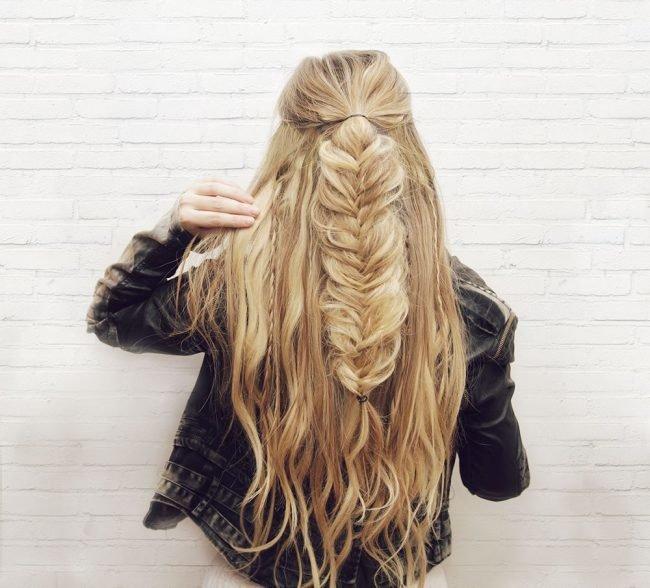фото косы на длинные волосы 3