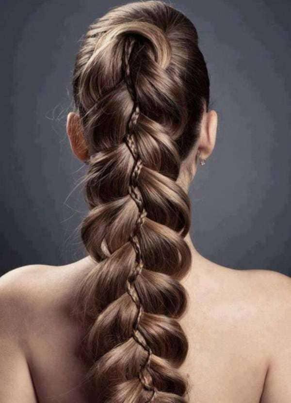 фото косы на длинные волосы 10