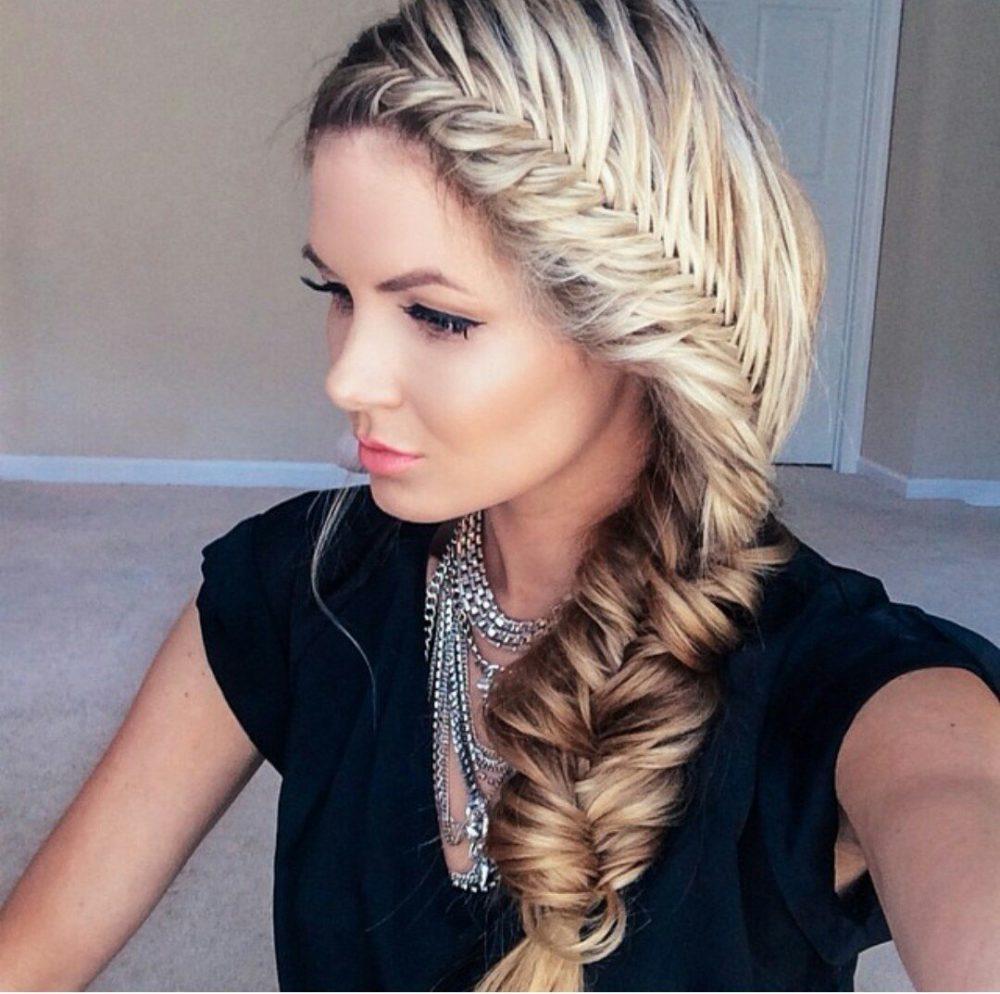 фото косы на длинные волосы 13