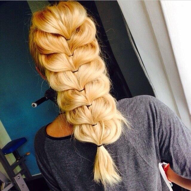 фото косы на длинные волосы 15
