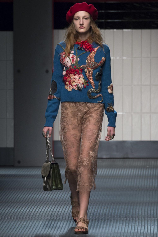 Стильная одежда осень-зима с вышивкой