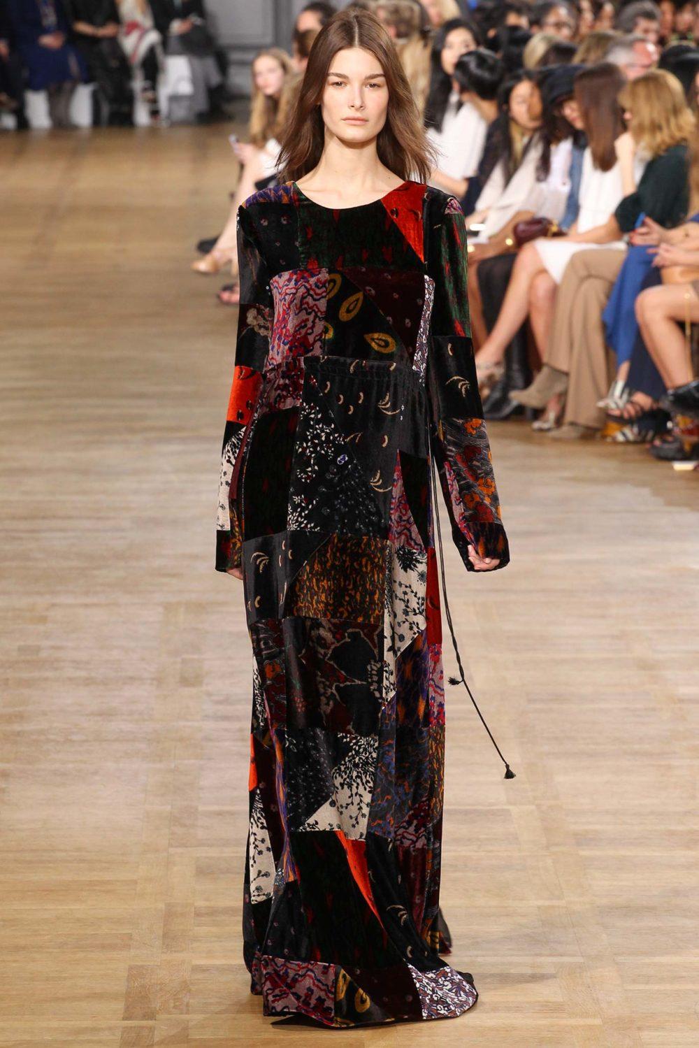 Стиль пэчворк: модное платье холодного сезона