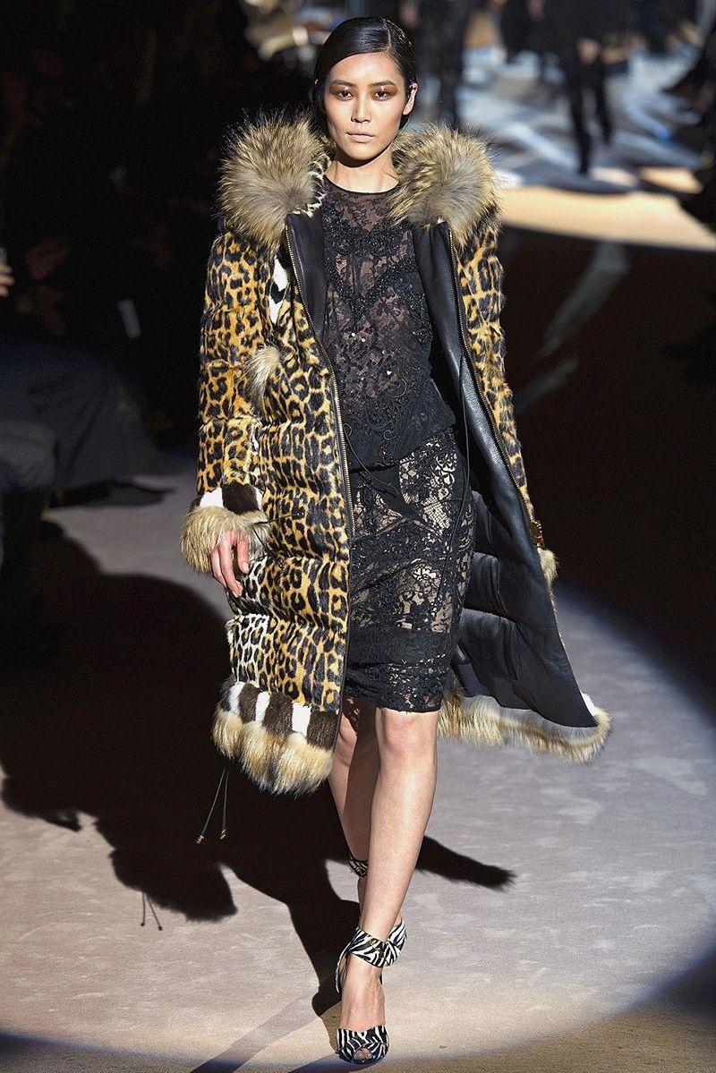 Звериный принт: модные пуховики на осень и зиму