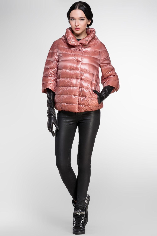 Модный короткий пуховик осень-зима