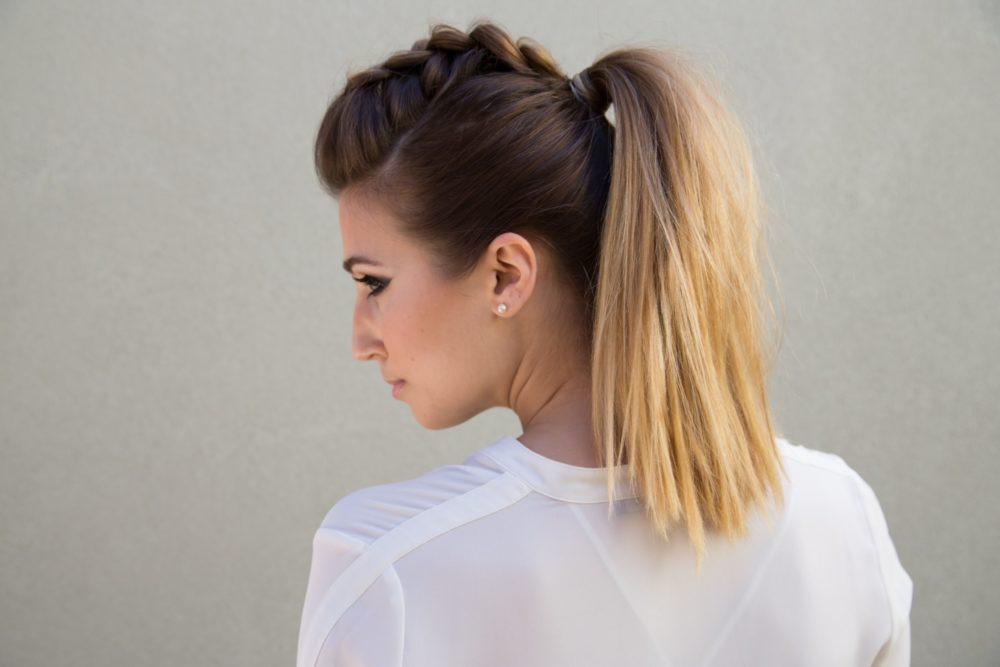 фото Простых причесок на средние волосы своими руками - 6