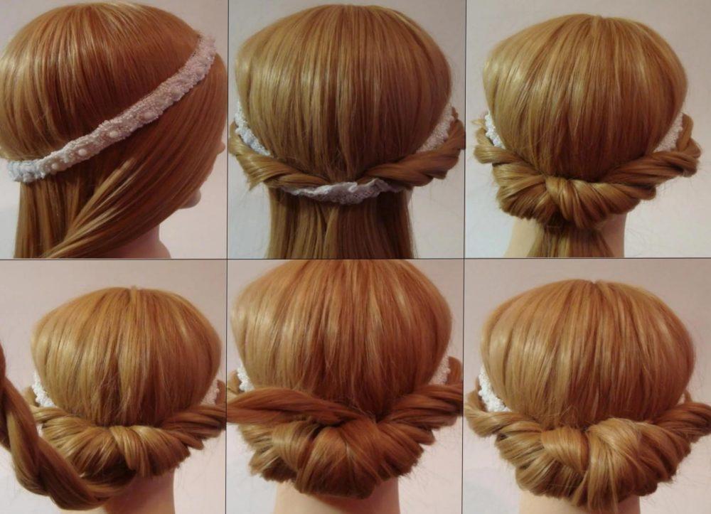фото Простых причесок на средние волосы своими руками - 8