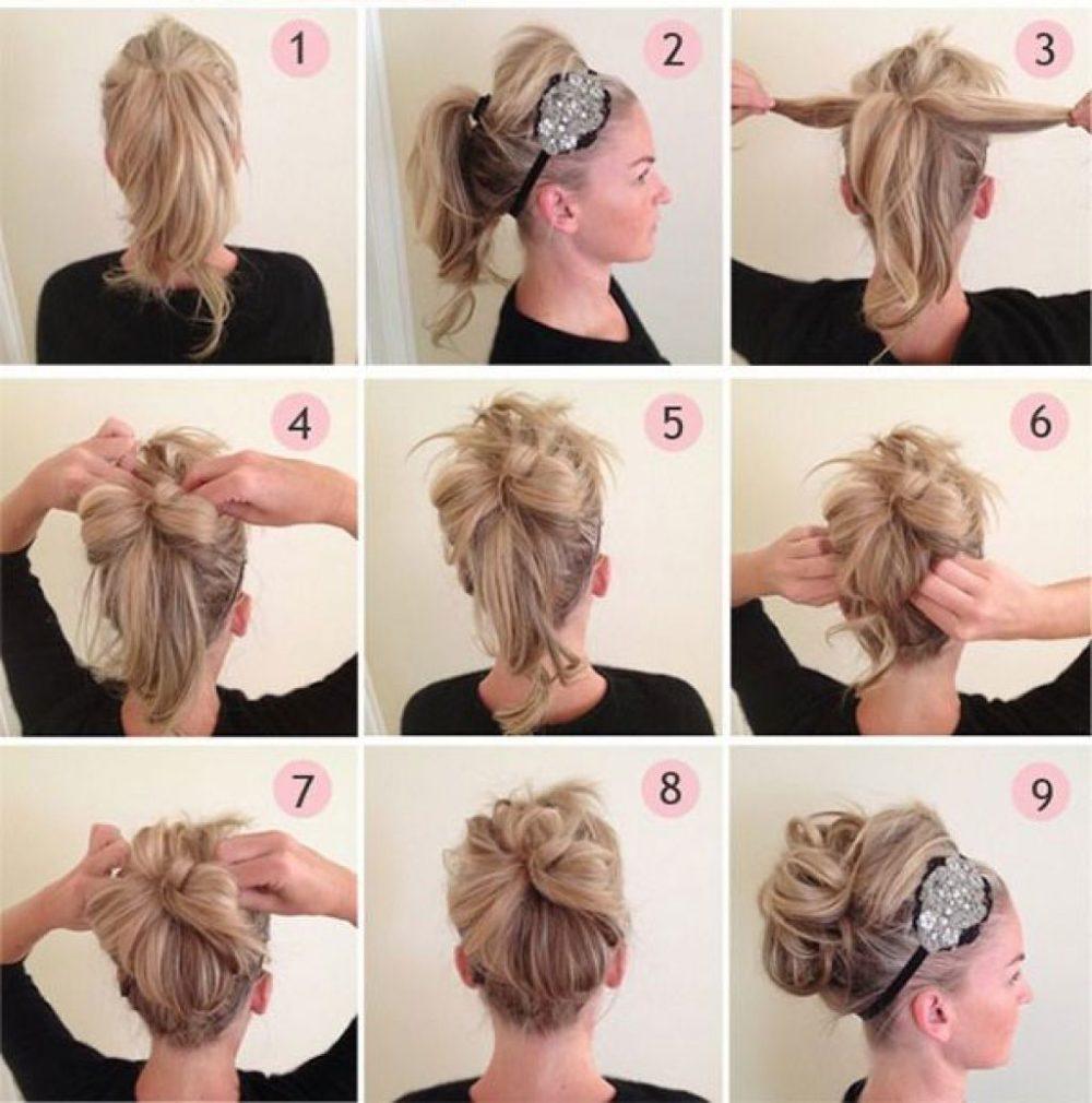 фото Простых причесок на средние волосы - 14