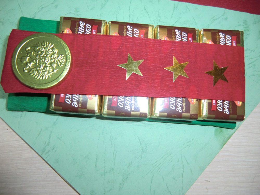 шоколад на День защитника Отечества в классе