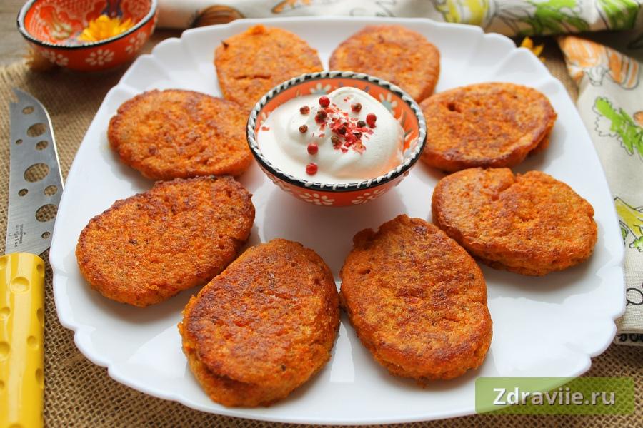Морковные котлеты с сыром рецепт с фото