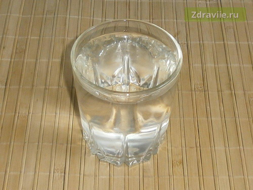 заливаем водой