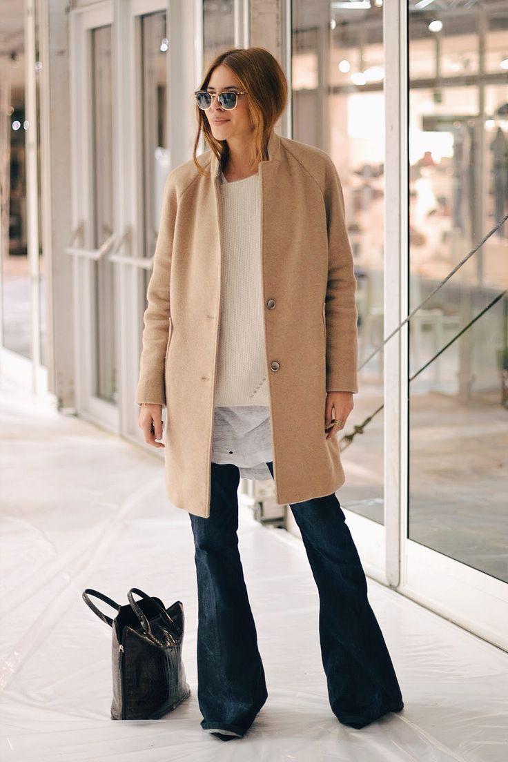 стильные брюки клеш на осень