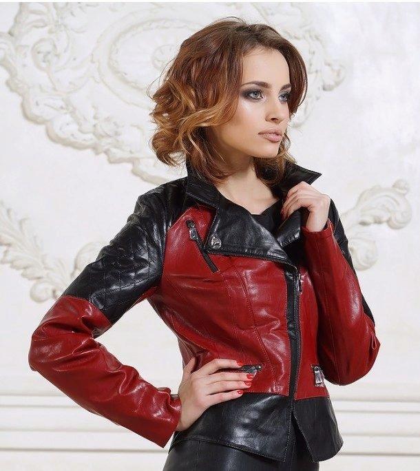 цветовое сочетание на кожаных куртках в моде осенью