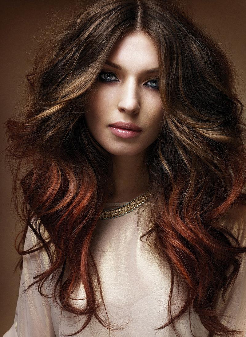 модные цвета волос для брюнеток