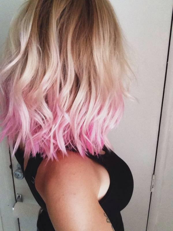 градиентное окрашивание для блонда