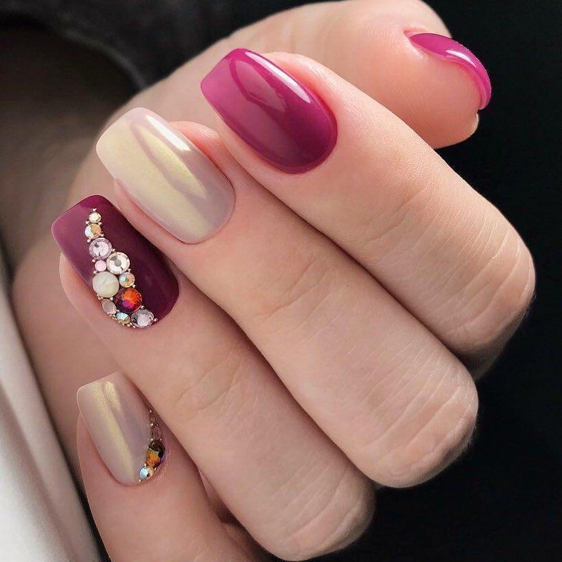 Модные новинки дизайна ногтей в 2019 году-21